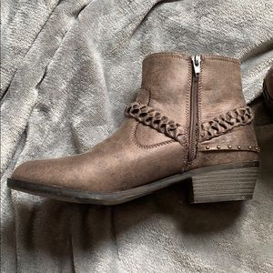 NEW IN BOX - XOXO Brown leather booties